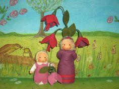 Susannelfes Blumenkinder für den Jahreszeitentisch: BLUMENKINDER TEIL 1