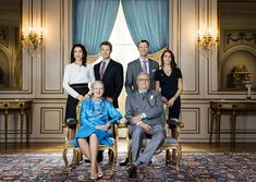 kongehuset.dk:  The Danish Royal Family-Queen Margrethe and Prince Henrik with Crown Prince Frederik and Crown Princess Mary and Prince Joachim and Princess Marie