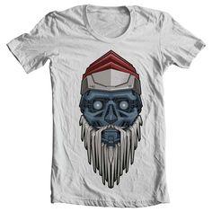 Santa Robot Tee shirt design