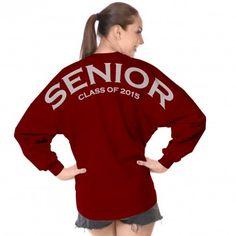 Senior Class of 2015 Spirit Football Jersey