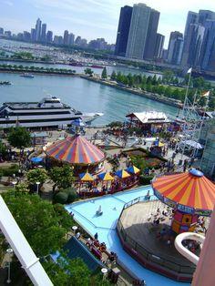 Navy Pier, Chicago, taken from the ferris wheel