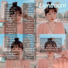 #lightroom #uzzlang #uzzlanggirl Photography Filters, Photography Editing, Photo Editing, Best Free Lightroom Presets, Free Photo Filters, Feeds Instagram, Lightroom Tutorial, Photos, Tola