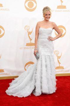 Malin Akerman vestindo Marchesa, Emmy Awards 2013