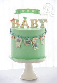 Baby shower cake....Gender reveal cake