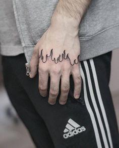 wykonany przez (done by Finger Tattoos, Body Art Tattoos, New Tattoos, Tattoos For Guys, Sleeve Tattoos, Tatoos, Flame Tattoos, Mini Tattoos, Small Tattoos