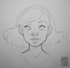 Draw the basics Pencil Art Drawings, Art Drawings Sketches, Cute Drawings, Art Inspiration Drawing, Cartoon Art Styles, Drawing Cartoon Faces, Art Reference Poses, Drawing Reference, Art Sketchbook