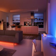 Philips Hue Smart Lighting: Philips hue combines brilliant LED light with intuitive technology. And it puts them both in the palm of your hand.Together, the bulbs, the bridge and the app will change the way you use light. Hue can wake you up. Help protect your home. Relive your favorite memories. Even improve your mood. http://meethue.com/en-us/this-is-hue/an-introduction/