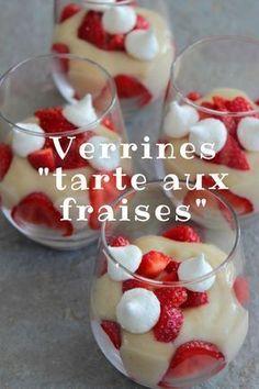 Verrines façon tarte aux fraises #fraise #strawberry #verrine #dessert #vanille