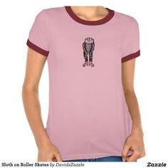 Sloth on Roller Skates #sloth #clothes #roller #skates #funny #fun #cute #humor #humorous #tee #t-shirt #fashion #style #men #women #kids #girl #boy #men #women #baby #toddler #zazzle #buy #sale #lifestyle #comfort