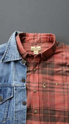 ec677a66 Fairbanks Flannel from @buffalojackson and denim jacket from @levis #denim  #flannel #