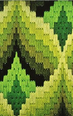 .I learned how to do some of this Bargello pattern needlepoint as a teenager. Love the visual effect.