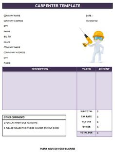 CARPENTER INVOICE TEMPLATE-19
