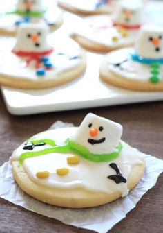 Whip up this Melting Snowman Sugar Cookie recipe for some cheery winter fun!