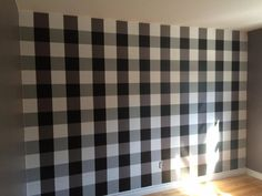Nursery Wall, buffalo plaid