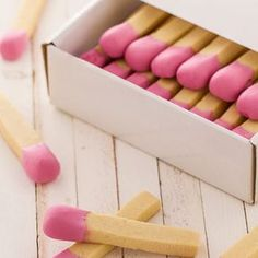 Shortbread with a touch of frosting? Now that is clever. It is OK for kids to play with (eat) matches (especially when they smell so good).