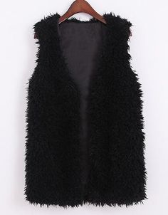 Shop Black V Neck Sleeveless Fur Vest online. Sheinside offers Black V Neck Sleeveless Fur Vest & more to fit your fashionable needs. Free Shipping Worldwide!