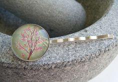 JAPANESE CHERRY BLOSSOM silverplated bobby pin hair slides £4.00