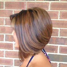 pictures of layered highlighted bob haircuts - Google Search