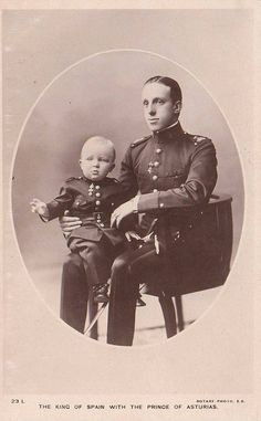 King Alfonso XIII with his son Alfonso, Prince of Asturias