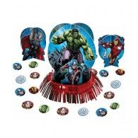 Avengers Party Decorations Table Centrepieces Decorating Kit Inc Confetti Avengers Party Decorations, Party Table Decorations, Party Themes, Avengers Birthday Cakes, Party Corner, Small Centerpieces, Centrepieces, Birthday Party Tables, The Avengers
