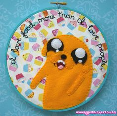 Jake the Dog Embroidery by iggystarpup