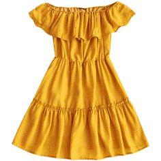 Polka Dot Ruffle Off Shoulder Mini Dress (610 CZK) ❤ liked on Polyvore featuring dresses, off shoulder flounce dress, polka dot dress, off-shoulder ruffle dresses, mini dress and ruffle dress