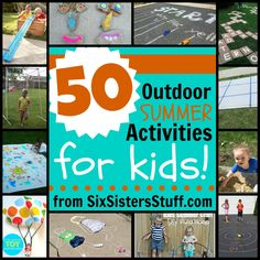 Are things getting a little crazy around the house? Check out these 50 Outdoor Summer Activities to try with the kids via @SixSistersStuff!