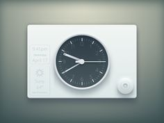 This is based on the Dieter Rams Clock/Radio design: http://blog.mengto.com/experimenting-colors-concepts