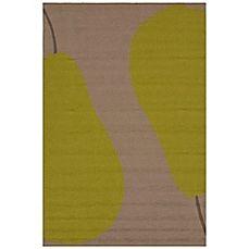 image of Jaipur Grant Au Pear Indoor/Outdoor Rug in Beige/Green