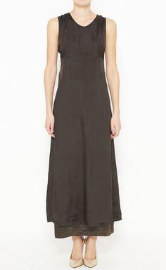 Dries Van Noten Brown Dress | VAUNTE