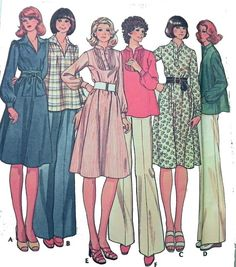 McCalls 4866  Sewing pattern for set of by retroactivefuture, $5.00