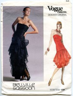 1980s Vogue 1701 Bellville Sassoon Misses by GreyDogVintage
