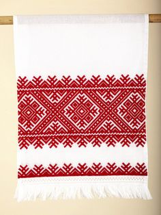 Rushnyk - Decorative embroidered hand towels Red and White | IFAM | Online