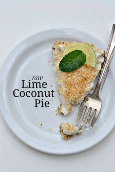 Raw Lime Coconut Pie #RawFood #VeganRecipes