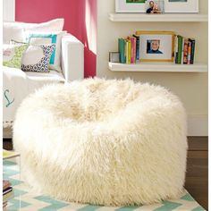 White fluffy beanbag ~ perfection