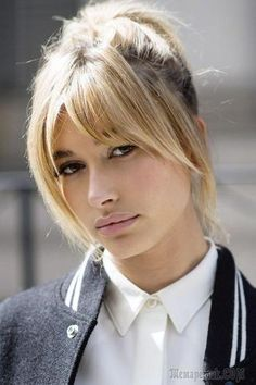 By now it's no secret that curtain bangs are officially on trend (Hailey Baldwin with a curtain fringe) # Hairstyles mittellang rundes gesicht Hairstylists reveal the ultimate hair trends for Autumn and Winter Long Bangs, Straight Bangs, Bangs Short Hair, Long Bob Haircut With Bangs, Wispy Bangs, Straight Bob, Shoulder Length Hair Bangs, Medium Haircuts With Bangs, Short Curls