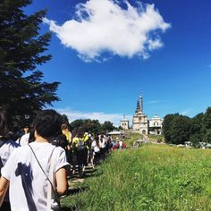 """""""My soul is one hymn in adoration of your mercy."""" - St. Faustina Kowalska  Experienced our own little version of Calvary today; pondering Jesus' Way of the Cross as we trudged and climbed to the top of the magnificent Holy Cross Mountains. #DaysInTheDiocese #Krakow2016 #WYD2016 #WanderLorry"""