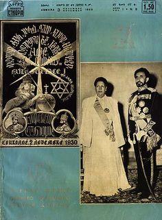 HIM EMPEROR HAILE SELASSIE & EMPRESS MENEN Rastafari Art, History Of Ethiopia, Rastafarian Culture, Reggae Art, Lion Photography, Haile Selassie, Black Royalty, 12 Tribes Of Israel, African Royalty