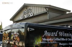 We deliver our BBQ in these stellar trucks. Try us out!