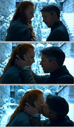 Petyr and Sansa, Mockingbird, Game of Thrones (by myrandar) Loved how her face (which you don't see in this set) was like EWWWWW!!!!! Sansa isn't taking any of Petyr's shit :)~