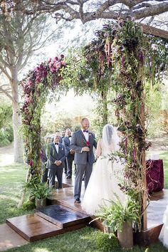 #wedding-ceremony #floral-installation #bride 100 Layer Cake Best of: Wedding Decor