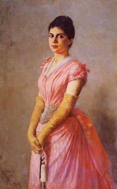 1890 Georgios Iakovidis - Portrait of a Lady