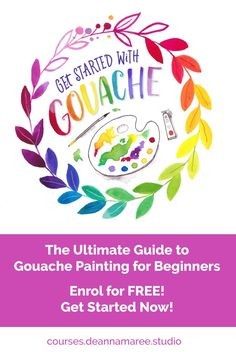 Painting with gouache for beginners! This jam-packed course will teach you everythingyou need to know to get started with gouache! Click the image and get started now!