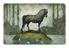 The kelpie is a supernatural water horse from Celtic folklore that is believed to haunt the rivers and lochs of Scotland and Ireland