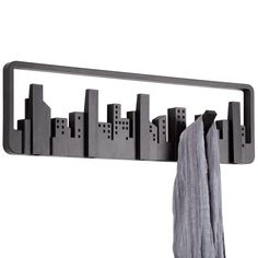 The Umbra Skyline Muti Hook is the best view in the city! Gaze at your exclusive Umbra Skyline every time you pick up your coat. Shelf Hooks, Wall Hooks, Wall Shelves, Shelving, Coat Hanger, Coat Hooks, Armoire Entree, Hallway Coat Rack, Urban Living
