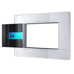 Stylische weiße Media-TV-Wand. Diese moderne TV-Wand wird zum absoluten Blickfang in Deinem Wohnzimmer - und das nicht nur beim Fernsehen! Ab 599,99 €