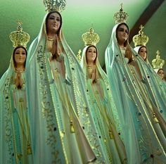 """Virgin Marys:  When I find myself in times of trouble--  Mother Mary comes to me--  Speaking Words of Wisdom--  """"Let it be . . ."""""""