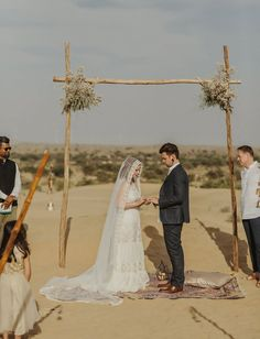 Simple ceremony decor in the Thar desert in India