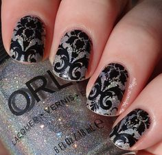 the mercurial magpie: Orly Mirrorball Swatches & Stamping