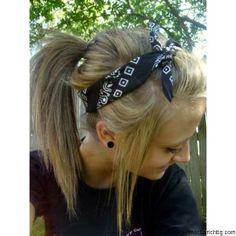 Cute Bandana Hairstyle!
